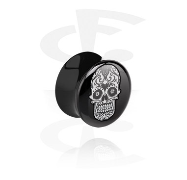 Tunnels & Plugs, Black Flared Plug, Acrylic