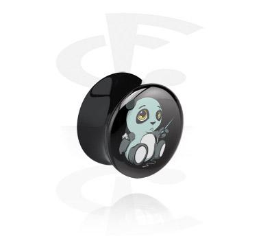 Double flared plug nero