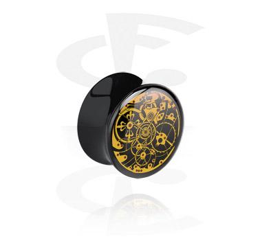 Flared plug noir