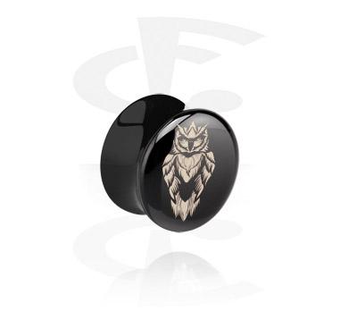 Tunely & plugy, Black Flared Plug, Acrylic