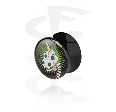 Black Double Flared Plug<br/>[Acrylic]