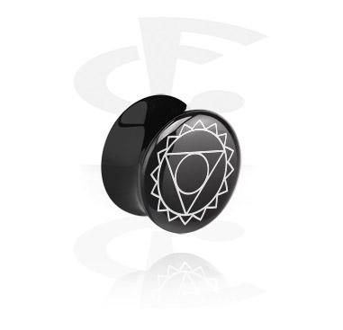 Tunnels & Plugs, Double flared plug noir, Acrylique