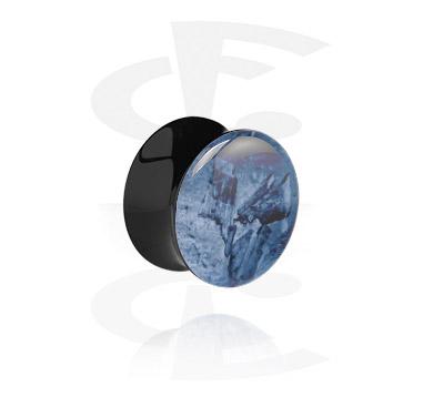 Tunnel & Plug, Double flared plug nero, Acrilico
