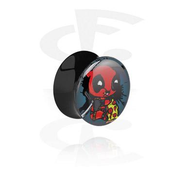 Tunely & plugy, Black Double Flared Plug, Acrylic