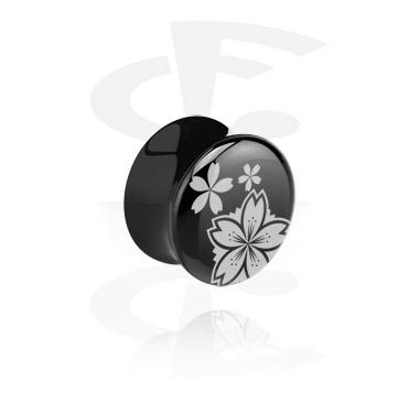 Tunele & plugi, Czarny plug siodłowy, Acrylic