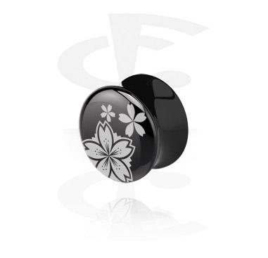 Tunnelit & plugit, Black Flared Plug, Acryl