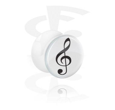 Flared plug bianco