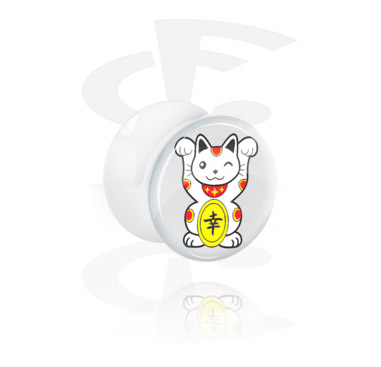 Tunnels & Plugs, White Flared Plug, Acrylic