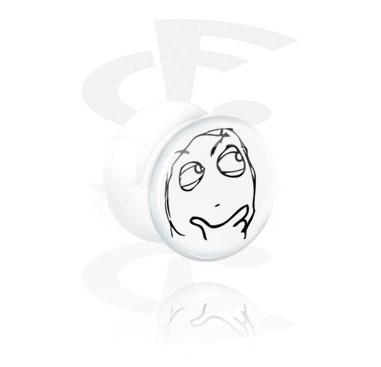 Tunely & plugy, White Flared Plug, Acrylic