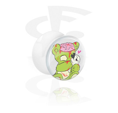 Tunnels & Plugs, Witte Double Flared Plug, Acryl