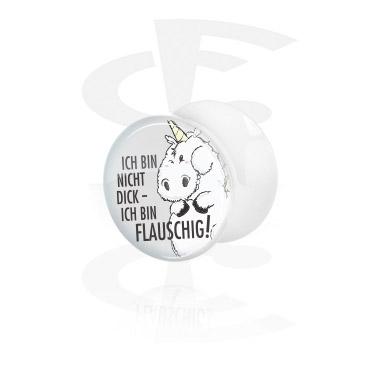 Valkoinen double flared-plugi