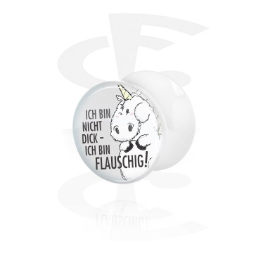 White Double Flared Plug<br/>[Acrylic]