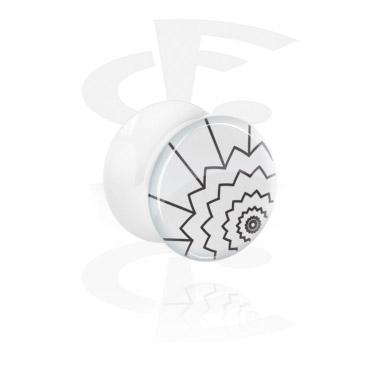White Double Flared Plug