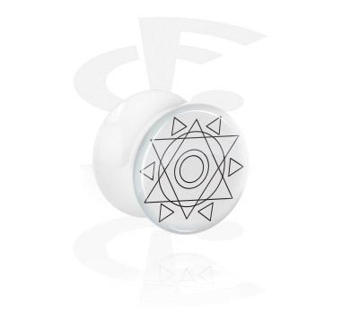 Tunely & plugy, White Double Flared Plug, Acrylic