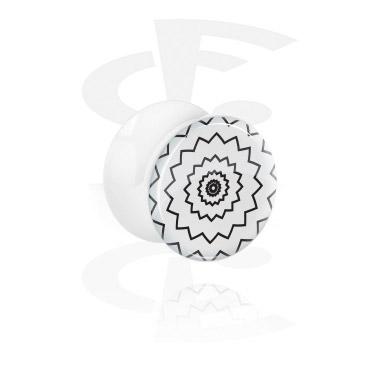 Tunele & plugi, White Double Flared Plug, Acrylic