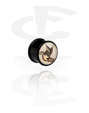 Schwarzer Ribbed Plug