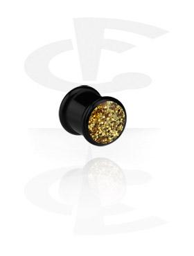 Zwarte Ribbed Plug