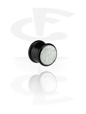 Black Glitterline Plug