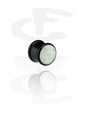 Black Ribbed Plug