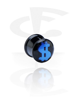Black Plug with 3D Design