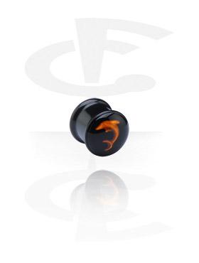 Schwarzer Plug mit 3D-Design