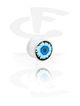 Witte Plug met afbeelding