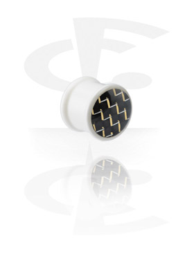Weißer Carbon Fiber Plug