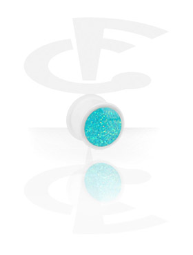 White Glitterline Plug