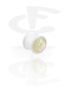 Bílý perleťový plug