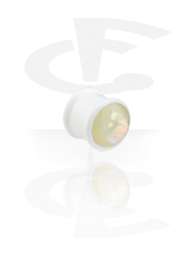 """Weißer """"Mother of Pearl""""-Plug"""