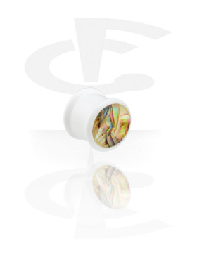 "Witte ""Mother of Pearl""-Plug"