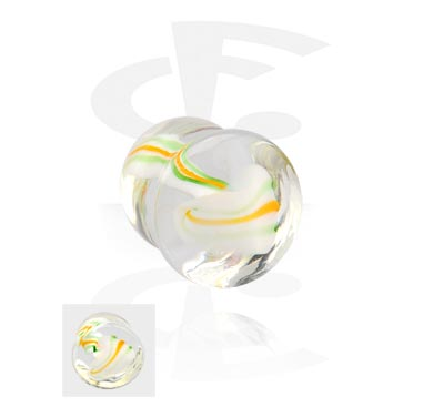 Tunely & plugy, Double Flared Plug, Pyrex Glass