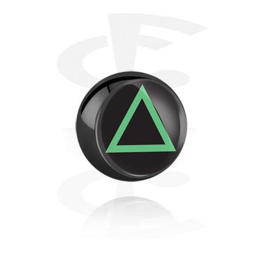 Bola negra con imagen
