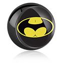 Boules et Accessoires, Boule noire avec motif, Acier chirurgical 316L