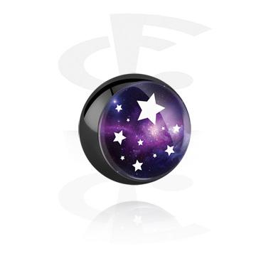 Boule noire avec motif