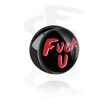 Bolas y Accesorios, Bola negra con diseño, Acero quirúrgico 316L