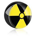Kuglice i zamjenski nastavci, Black Picture Ball, Surgical Steel 316L