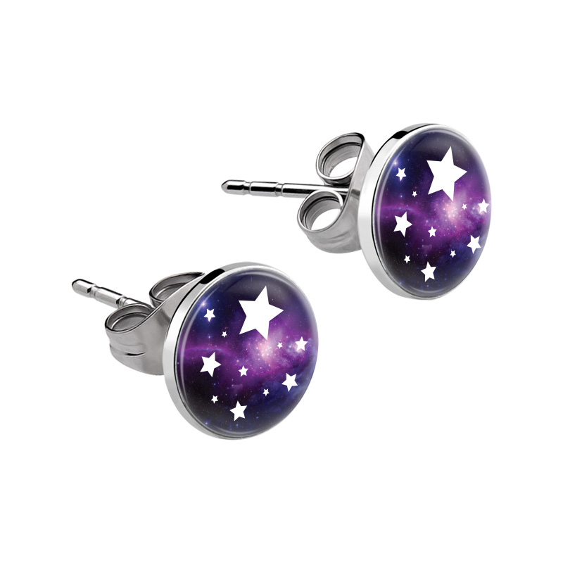 Cheap 304 Stainless Steel Spray Painted Stud Earrings Online Store - Cobeads.com