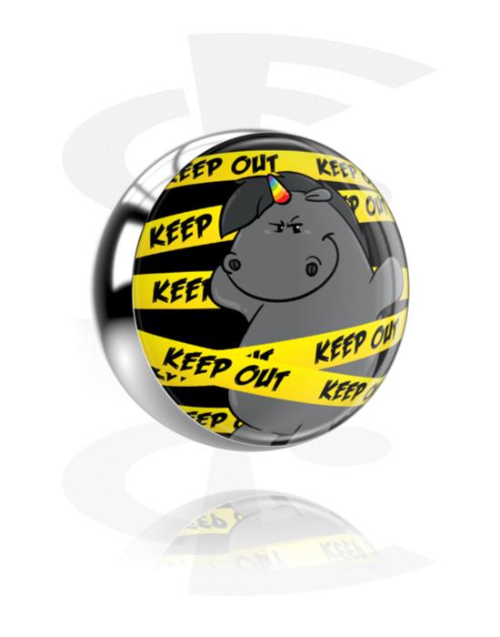 Palloja, nappeja ynnä muuta, Ball kanssa Grumpy Unicorn Design, Kirurginteräs 316L