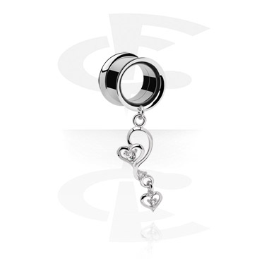 Tunely & plugy, Tunnel with Pendant<br/>[Surgical Steel 316L], Surgical Steel 316L