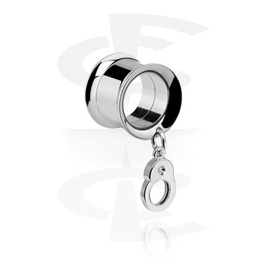 Tunely & plugy, Tunnel with Pendant, Surgical Steel 316L