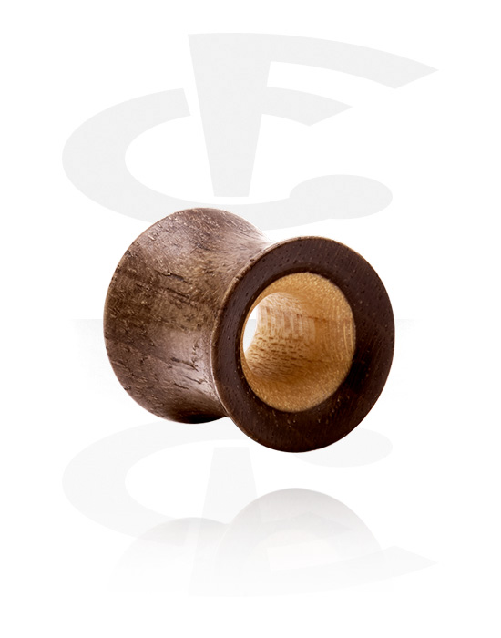 Tunnel & Plugs, Double Flared Tunnel, Holz