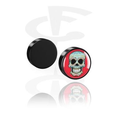 Fake Piercing, Fake Plug magnetico, Acrilico