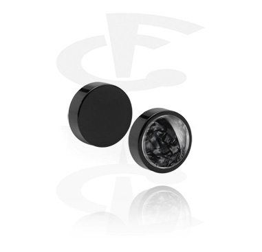 Fake Piercings, Falso plug magnético con Diseño nácar, Acrílico