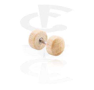 Fake Piercings, Fake Plug, Wood
