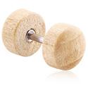 Lažni piercing nakit, Fake Plug, Wood