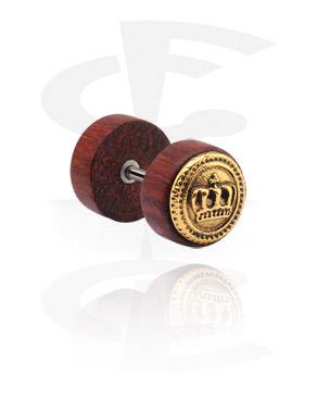Faux écarteur avec accessoire en acier plaqué or