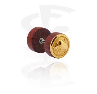 Fake Plug with gold-plated steel attachment
