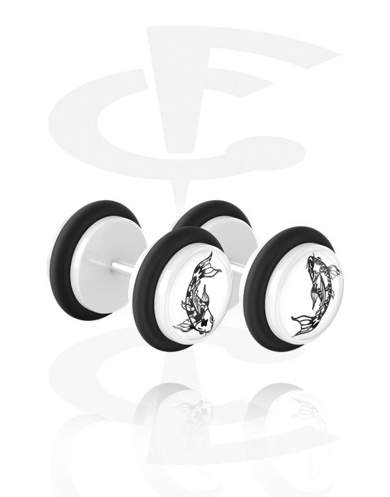Lažni piercing nakit, 2pcs Fake Plug, Akril, Kirurški čelik 316L