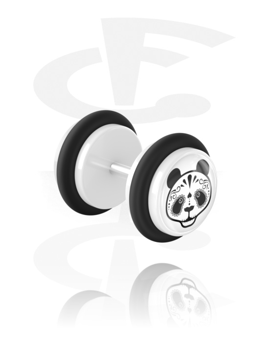 Falešné piercingové šperky, Fake plug, Akryl, Chirurgická ocel 316L